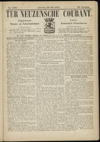 Ter Neuzensche Courant. Algemeen Nieuws- en Advertentieblad voor Zeeuwsch-Vlaanderen / Neuzensche Courant ... (idem) / (Algemeen) nieuws en advertentieblad voor Zeeuwsch-Vlaanderen 1879-07-26
