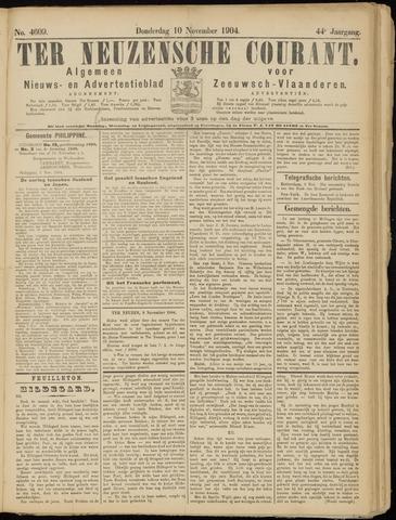 Ter Neuzensche Courant. Algemeen Nieuws- en Advertentieblad voor Zeeuwsch-Vlaanderen / Neuzensche Courant ... (idem) / (Algemeen) nieuws en advertentieblad voor Zeeuwsch-Vlaanderen 1904-11-10