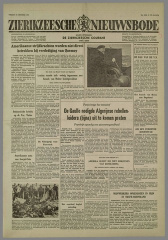 Zierikzeesche Nieuwsbode 1958-10-24