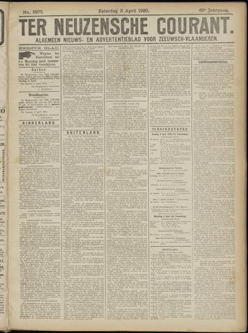 Ter Neuzensche Courant. Algemeen Nieuws- en Advertentieblad voor Zeeuwsch-Vlaanderen / Neuzensche Courant ... (idem) / (Algemeen) nieuws en advertentieblad voor Zeeuwsch-Vlaanderen 1920-04-03