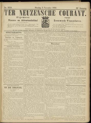 Ter Neuzensche Courant. Algemeen Nieuws- en Advertentieblad voor Zeeuwsch-Vlaanderen / Neuzensche Courant ... (idem) / (Algemeen) nieuws en advertentieblad voor Zeeuwsch-Vlaanderen 1895-11-05