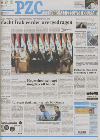 Provinciale Zeeuwse Courant 2004-06-29