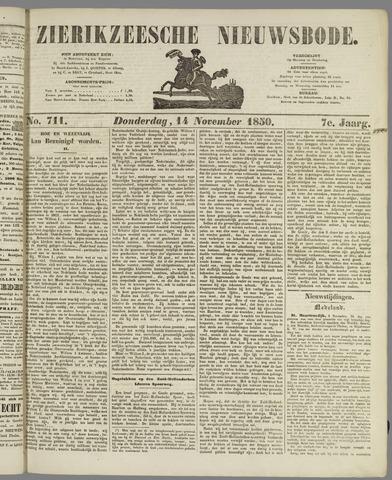 Zierikzeesche Nieuwsbode 1850-11-14