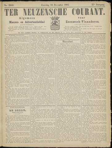 Ter Neuzensche Courant. Algemeen Nieuws- en Advertentieblad voor Zeeuwsch-Vlaanderen / Neuzensche Courant ... (idem) / (Algemeen) nieuws en advertentieblad voor Zeeuwsch-Vlaanderen 1887-12-24