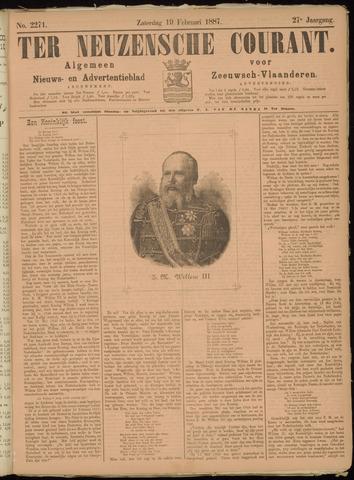 Ter Neuzensche Courant. Algemeen Nieuws- en Advertentieblad voor Zeeuwsch-Vlaanderen / Neuzensche Courant ... (idem) / (Algemeen) nieuws en advertentieblad voor Zeeuwsch-Vlaanderen 1887-02-19