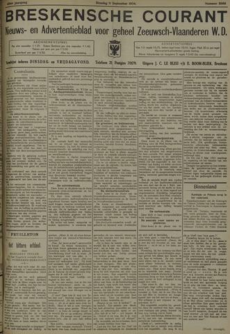 Breskensche Courant 1934-09-11