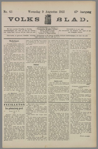 Volksblad 1922-08-09