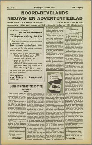 Noord-Bevelands Nieuws- en advertentieblad 1952-02-09