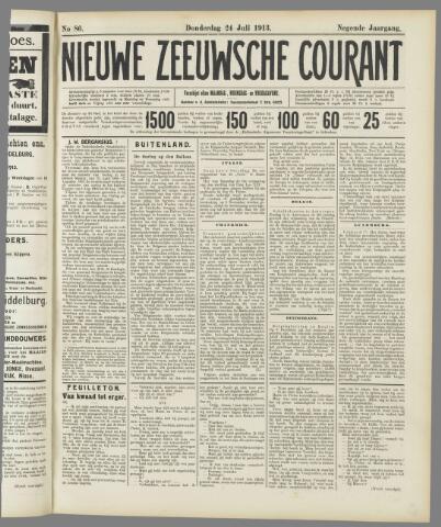 Nieuwe Zeeuwsche Courant 1913-07-24