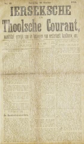 Ierseksche en Thoolsche Courant 1885-10-10