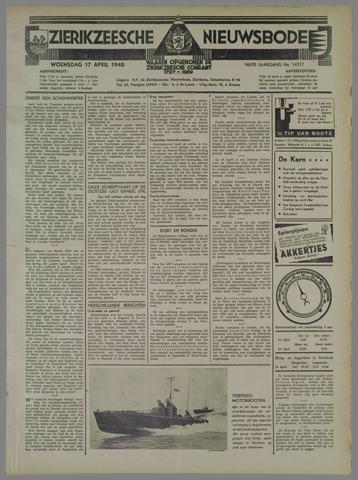 Zierikzeesche Nieuwsbode 1940-04-17