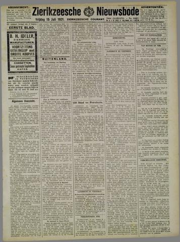 Zierikzeesche Nieuwsbode 1921-07-15