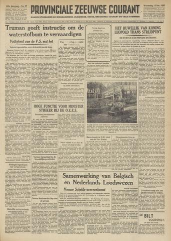 Provinciale Zeeuwse Courant 1950-02-01
