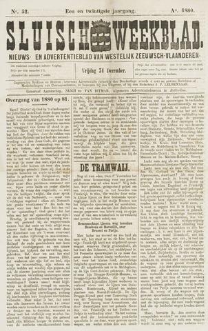 Sluisch Weekblad. Nieuws- en advertentieblad voor Westelijk Zeeuwsch-Vlaanderen 1880-12-31