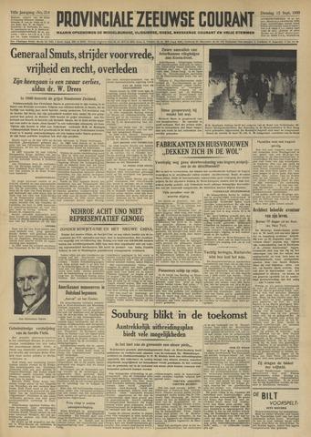 Provinciale Zeeuwse Courant 1950-09-12