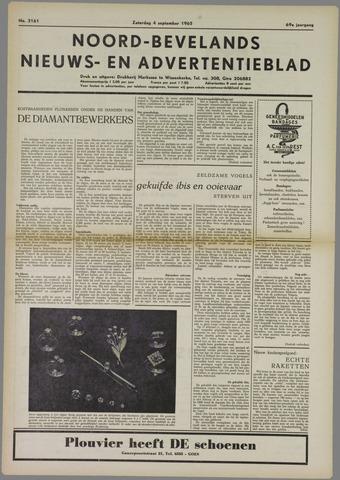 Noord-Bevelands Nieuws- en advertentieblad 1965-09-04