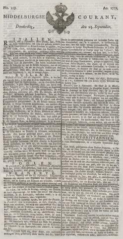 Middelburgsche Courant 1777-09-25