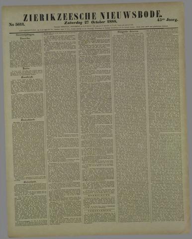 Zierikzeesche Nieuwsbode 1888-10-27