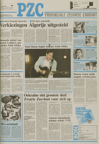 Provinciale Zeeuwse Courant 1992-01-13