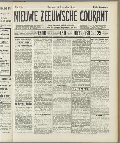 Nieuwe Zeeuwsche Courant 1915-09-25