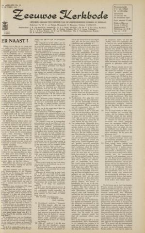 Zeeuwsche kerkbode, weekblad gewijd aan de belangen der gereformeerde kerken/ Zeeuwsch kerkblad 1963-10-25