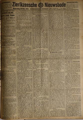 Zierikzeesche Nieuwsbode 1921-11-30