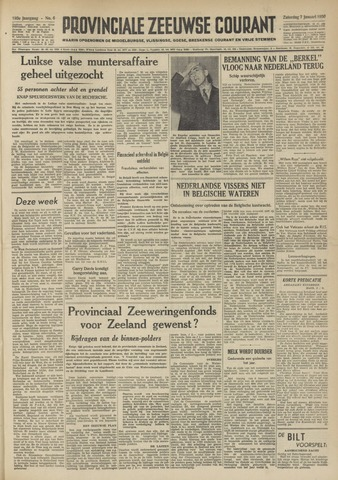 Provinciale Zeeuwse Courant 1950-01-07