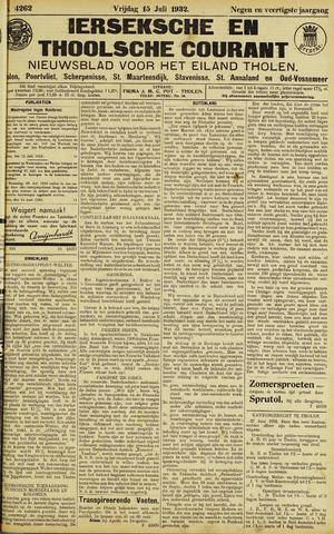 Ierseksche en Thoolsche Courant 1932-07-15