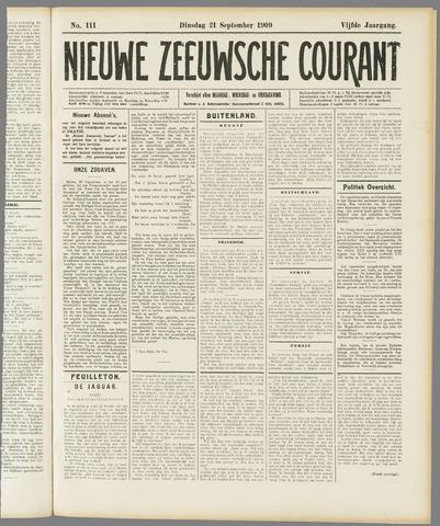 Nieuwe Zeeuwsche Courant 1909-09-21