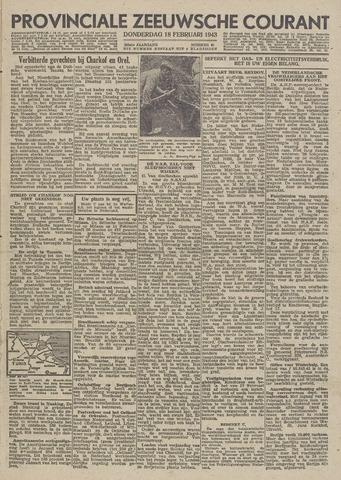 Provinciale Zeeuwse Courant 1943-02-18