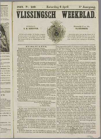 Vlissings Weekblad 1867-04-06