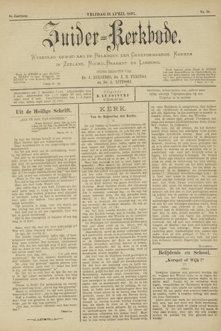 Zuider Kerkbode, Weekblad gewijd aan de belangen der gereformeerde kerken in Zeeland, Noord-Brabant en Limburg. 1897-04-16