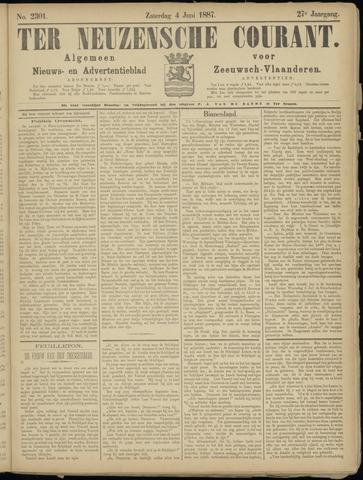 Ter Neuzensche Courant. Algemeen Nieuws- en Advertentieblad voor Zeeuwsch-Vlaanderen / Neuzensche Courant ... (idem) / (Algemeen) nieuws en advertentieblad voor Zeeuwsch-Vlaanderen 1887-06-04
