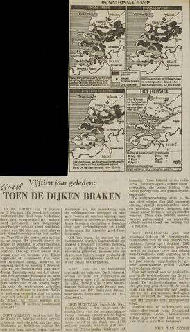 Watersnood documentatie 1953 - krantenknipsels 1954