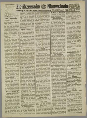 Zierikzeesche Nieuwsbode 1922-09-20