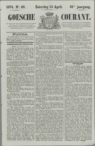 Goessche Courant 1874-04-25