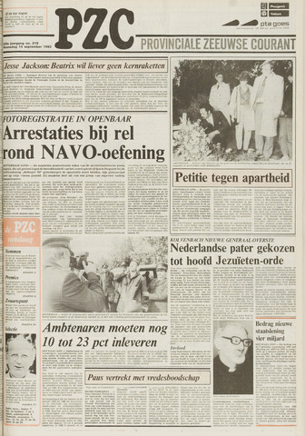 Provinciale Zeeuwse Courant 1983-09-14