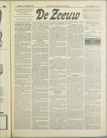 De Zeeuw. Christelijk-historisch nieuwsblad voor Zeeland 1934-09-27