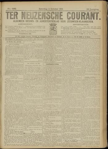 Ter Neuzensche Courant. Algemeen Nieuws- en Advertentieblad voor Zeeuwsch-Vlaanderen / Neuzensche Courant ... (idem) / (Algemeen) nieuws en advertentieblad voor Zeeuwsch-Vlaanderen 1915-10-02