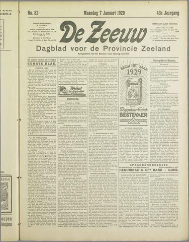 De Zeeuw. Christelijk-historisch nieuwsblad voor Zeeland 1929-01-07