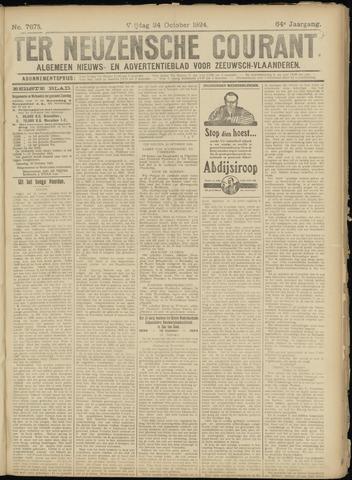 Ter Neuzensche Courant. Algemeen Nieuws- en Advertentieblad voor Zeeuwsch-Vlaanderen / Neuzensche Courant ... (idem) / (Algemeen) nieuws en advertentieblad voor Zeeuwsch-Vlaanderen 1924-10-24