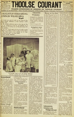 Ierseksche en Thoolsche Courant 1947-08-29