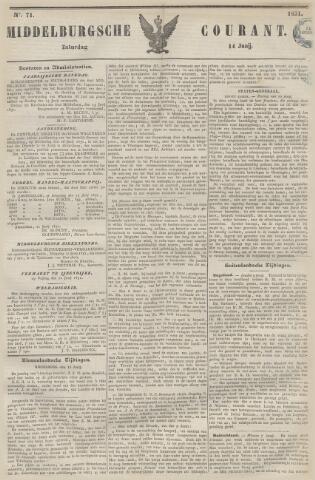 Middelburgsche Courant 1851-06-14