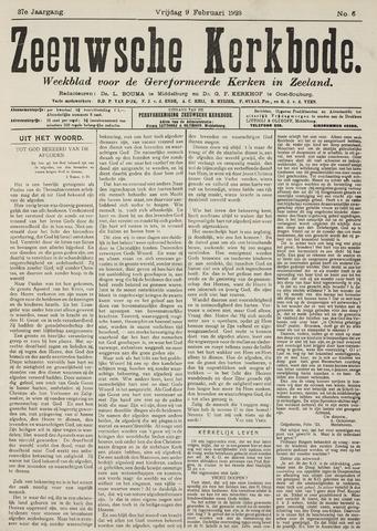 Zeeuwsche kerkbode, weekblad gewijd aan de belangen der gereformeerde kerken/ Zeeuwsch kerkblad 1923-02-09