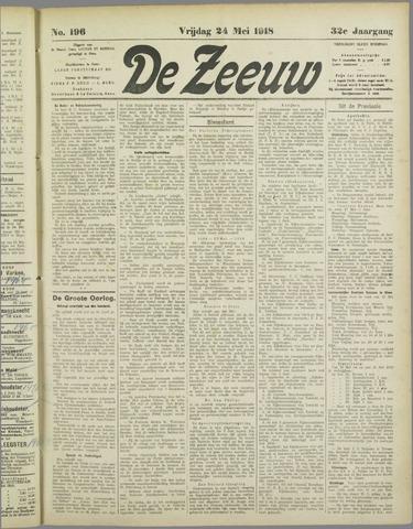 De Zeeuw. Christelijk-historisch nieuwsblad voor Zeeland 1918-05-24