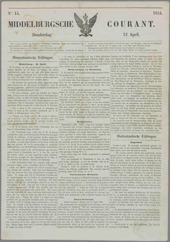 Middelburgsche Courant 1854-04-13