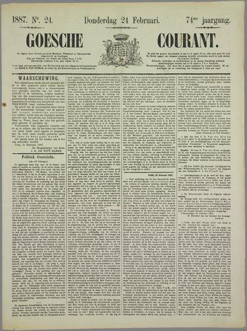 Goessche Courant 1887-02-24