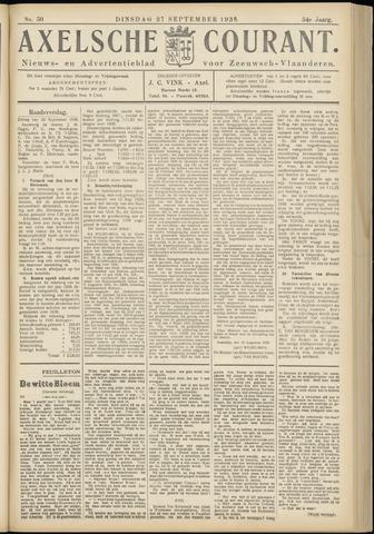Axelsche Courant 1938-09-27