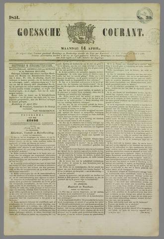 Goessche Courant 1851-04-14