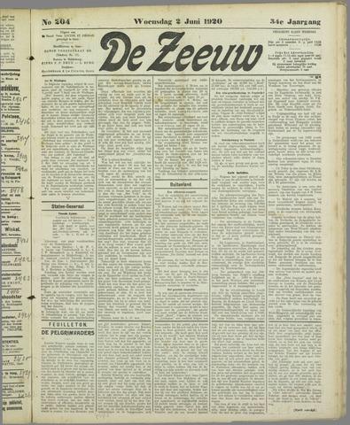 De Zeeuw. Christelijk-historisch nieuwsblad voor Zeeland 1920-06-02